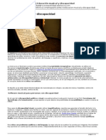 Educación musical y discapacidad