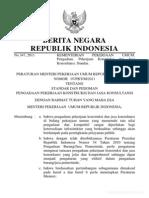 Permen PU 07 PRT M 2011 Ttg Standar Dan Pedoman Pengadaan Pekerjaan Konstruksi Dan Jasa Konsulta[1]