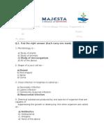 Microbiology Disease Organism & Antibiotics Majesta - Test Paper-A