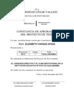 El Liderazgo Directivo y El Clima Institucional