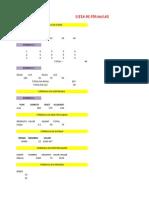 Lista de Formulas Alfredinho
