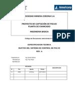Especificación Tecnica Ductos del Sistema de Control de Polvo_RevA