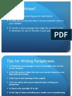 Paraphrasing - Lab Lesson