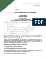 Ley Organica Del Poder Judicial Del Estado de Durango
