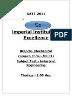 Industrial Engineering Test
