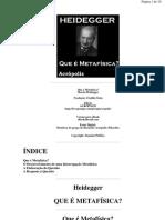 Martin Heidegger - O Que É Metafisica