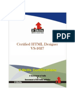 HTML Designer Certification