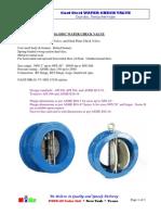 MIGZ CastSteel Wafer Check Valve, Dual-Disc 2014