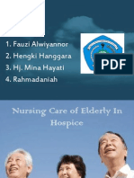 Nursing Care of Elderly in Hospice
