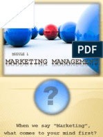 introduction to marketing managemnet