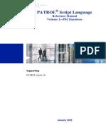 PATROL Script Language (PSL) Reference Manual, Volume 2 - PSL Functions