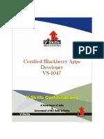Blackberry Apps Developer Certification