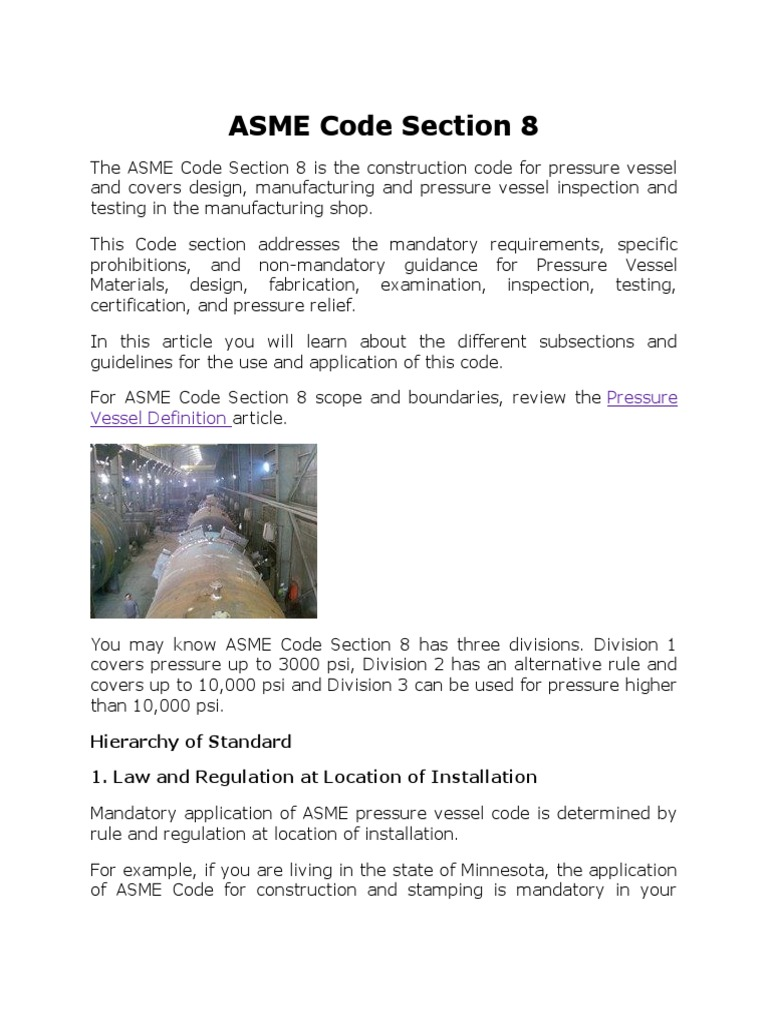 asme code section 8 | applied and interdisciplinary physics | industries