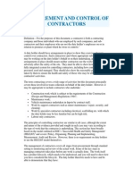 Contractor Procurement Document