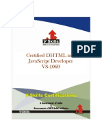 DHTML and JavaScript Certification