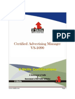 Advertising Manager Certification