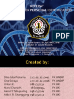 DNA Testing for Personal Identification