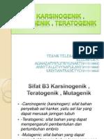 b3 Karsinogenik , Mutagenik , Teratogenik