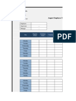 Monthly Employee Timesheet
