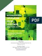New York Uranium Film Festival 2014 Program