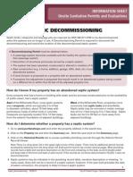 Septic Decommissioning