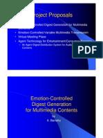Emotion-based multimedia browsing (R&D Proposals)