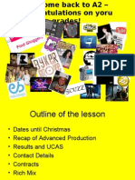 Overview of A2 Media Studies
