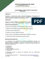 20 Perú CGP Programa Diplomado Ordenamiento Planificacion y Gestio del Territorio 2013