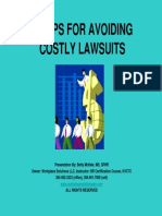 10 Tips for Avoiding Costly Lawsuits