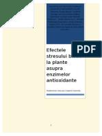 Efectele Stresului Biotic La Plante Asupra Activitatii Unor Enzime