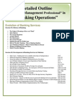 Banking Detailed Course Outline