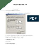Configuração do Access Point Level 1 WAP-0006