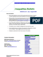 Health Inequalities Bulletin 20 - July-August 2009