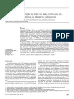 Efeito da Implementação de dIretrIz para profIlaxIa de tromboembolIsmo venoso em pacIentes cIrúrgicos
