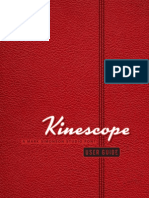 Kinescope User Guide