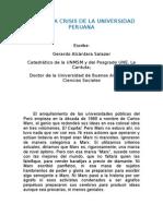 20 Alcantara G Marx y La Crisis de La Universidad Peruana 2013