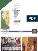 La pintura y el mosaico romano
