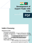 Development of Export Trade With India