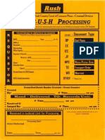 Rush Processing Form for Documents Filed at Clerk of Courts | York County, PA
