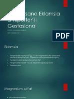 Tatalaksana Eklamsia & Hipertensi Gestasional