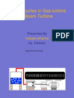 Different Cycles in Gas Turbine & Steam Turbine