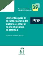 39_Elementos para la Caracteruzación del sistema Electoral Consuetudinario en Oaxaca