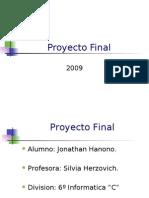 Presentacion Proyecto Final (Tonyh91)