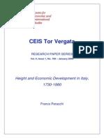 Franco Peracchi - Height and Economic Development in Italy 1730-1980