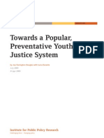 Towards a Popular Preventative Youth Justice System