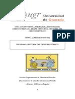 Guía Docente de Historia del Derecho Privado, Penal y Procesal. Historia del Derecho Público