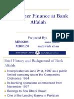 consumer finance at Bank Alfalah.ppt
