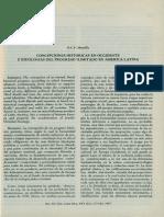 Concepciones Historicas en Occidente e Ideologias Del Progreso Ilimitado en America Latina