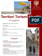 """Open Seminar """"Territori Turismi Identità"""" Programma"""