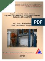 Estudio Experimental de Estructuras de Bloques de Concreto